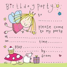 Cute Fairy Birthday Party Invitation