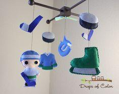 Baby Crib Mobile - Baby Mobile - Hockey Mobile - Boy Crib Mobile - Vancouver…