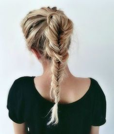 Blonde Fishtail Braid
