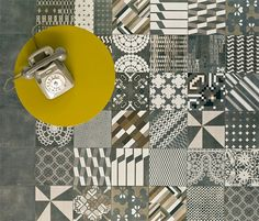 azulej tiles - designed by Patricia Urquiola 2012 for Mutina ceramiche & design Handmade tiles can be colour coordinated and customized re. shape, texture, pattern, etc. by ceramic design studios Patchwork Tiles, Patchwork Patterns, Tile Patterns, Textures Patterns, Pattern Designs, Patricia Urquiola, Deco Design, Tile Design, Ceramic Design