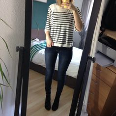 Striped T-Shirt Spring Outfit 2015