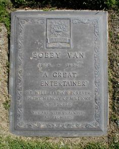 """Bobby Van (1928 - 1980) Actor and dancer, appeared in the movies """"Small Town Girl"""" and """"Kiss Me Kate"""""""