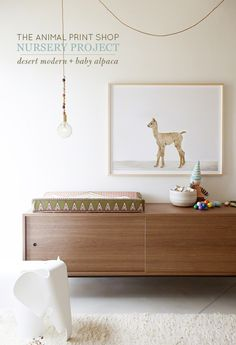 Baby Alpaca + another nursery project! | The Animal Print Shop Blog