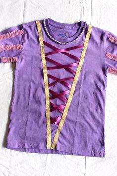 home-made Rapunzel shirt - maybe embellish a tech shirt for a rapunzel race costume