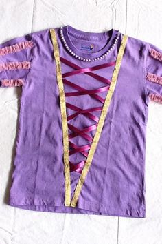 home-made Rapunzel shirt - maybe embellish a tech shirt for a rapunzel race costume