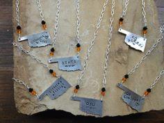 Oklahoma State Cowboys OSU Oklahoma Necklaces  by fortyoneSparkles, $22.00