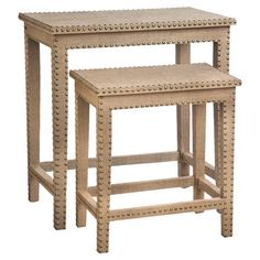 Set these burlap-covered end tables beside the bed for a stylish nightstand, or tuck one between an overstuffed arm chair and a rustic bookcase to hold a war...