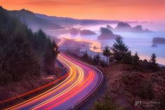 A great picture of the Pistol River on the Southern Oregon Coast before sunrise by brother Chip  @ ☽✪☾Tsahizn ☽✪☾