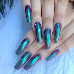 Obsessed with chrome nails