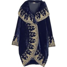 Alexander McQueen Embellished cocoon coat (8.625 RUB) ❤ liked on Polyvore featuring outerwear, coats, jackets, tops, alexander mcqueen, embellished coat, cocoon coat, oversized collar coat and blue coat