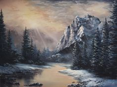 Paint with Kevin Hill - Sunlight Over the Mountains (+playlist)