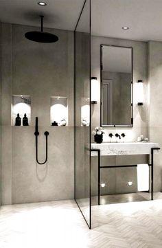 Modern Bathroom Design, Bathroom Interior Design, Bath Design, Spa Design, Bathroom Designs, Modern Bathroom Lighting, Designs For Small Bathrooms, Small Modern Bedroom, Modern Luxury Bathroom