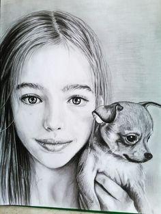 Портрет девочки карандашом.Автор Екатерина Бабанова.