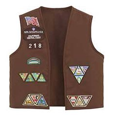 Girl Scout Brownie Vest.... I was a brownie then a girl scout :-)