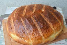 Paine cu cartofi coapta in oala reteta ardeleneasca | Savori Urbane Romanian Food, Just Bake, Pastry And Bakery, Dessert Recipes, Desserts, Vegan Recipes, Barley Recipes, Recipies, Good Food
