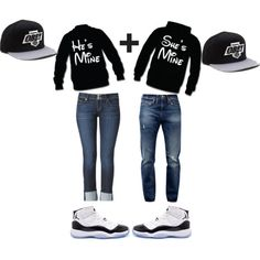 Couple outfit except for the hats