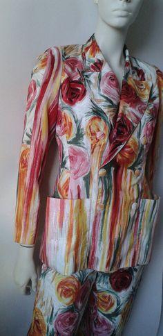 Pantalon et veste de soie et acétate de JEAN par ParisVintageBcn
