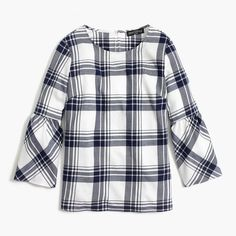 74ef911bb Flannel bell-sleeve top : FactoryWomen Flannel