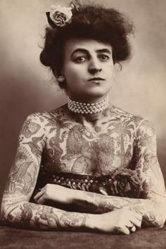Maude Wagner; Tattoo Godess of the early 20th Century.