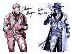 Arthur Morgan and John Marston- Agate – Usa Games Red Dead Redemption Game, Dead Mau5, John Marston, Read Dead, Rdr 2, Drawing Reference Poses, Ghost Rider, Funny Art, Skyrim