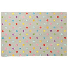 Candy Dot rug from Land of Nod always looks great! #popandlolli #pinparty