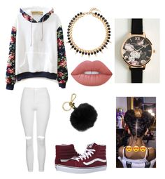 """""""Untitled #125"""" by toyapowell on Polyvore featuring WithChic, Topshop, Vans, Joomi Lim, Olivia Burton, Lime Crime and MICHAEL Michael Kors"""