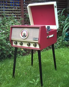 Restored 1960s Dansette RG31 record player and radio with legs