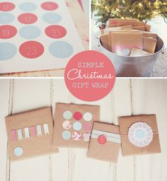 simple as that: Simple + Inexpensive Christmas Gift Wrapping