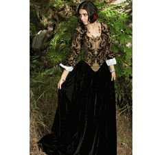 Brocade Bodice (vest)  w/Velvet Skirt: Elizabeth Swann Dress