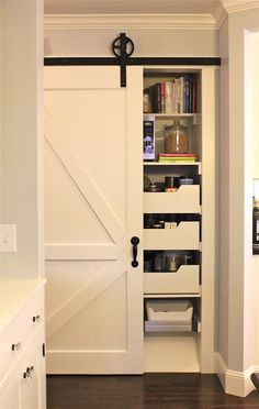 For pantry in kitchen? barn door hardware, source etsy NA