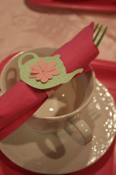 tea party napkin holder