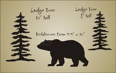 Rustic Decor STENCIL Mountain Lodge Trees Bear Cabin Outdoor Wilderness signs XL in Crafts, Art Supplies, Decorative & Tole Painting | eBay