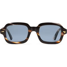 28c2e7321e5d Gucci Rectangular-Frame Acetate Glasses (€310) ❤ liked on Polyvore  featuring men s fashion