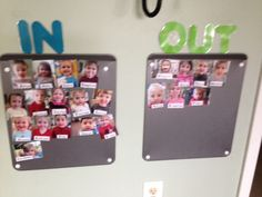 Who Is Here Today? In and Out Picture Board, Mount Airy, NC