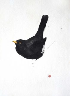 Karl Martens, BLACKBIRD #watercolorarts
