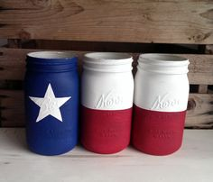 Check out this item in my Etsy shop https://www.etsy.com/listing/211400364/texas-flag-mason-jars