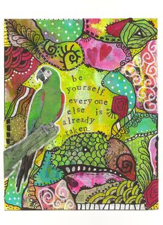 Now 50% off of regular price Mixed media by makeartbehappyshop