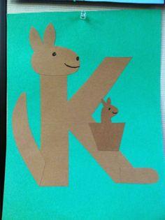17 best alphabet letter k crafts images on alphabet crafts script alphabet and Preschool Letter Crafts, Alphabet Letter Crafts, Abc Crafts, Preschool Projects, Alphabet Activities, Preschool Crafts, Letter Art, Letter Tracing, Letter Recognition