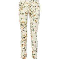 Citizens of Humanity Mandy printed high-rise skinny jeans ($130) ❤ liked on Polyvore featuring jeans, pants, bottoms, pantalones, high-waisted jeans, petite high waisted skinny jeans, petite jeans, high rise skinny jeans and floral skinny jeans
