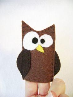 Owl Felt Finger Puppet | Owl Craft Ideas