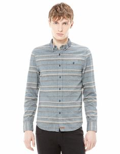 Bershka United Kingdom - Striped Oxford shirt £26