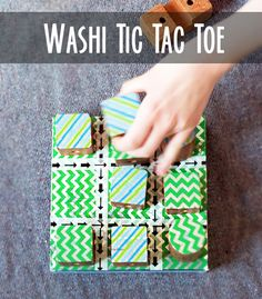 Make a tic tac toe game using washi tape