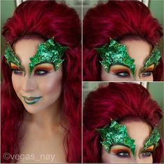 Vegas_Nay is just too amazing! She created this incredible Poison Ivy look using the Sugarpill Burning Heart palette. Halloween Cosplay, Halloween Make Up, Halloween Costumes, Halloween Face Makeup, Halloween Ideas, Halloween 2014, Diy Costumes, Ariel Halloween, Halloween Party