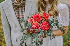 sonoran bride: Fall Forest Wedding Inspiration // Flagstaff bouquet by Butterfly Petals