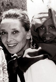 Audrey Hepburn and her amazing charity work. What a woman. #audreyhepburn #rolemodel #inspiration