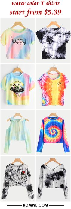 water color T shirts from $5.39