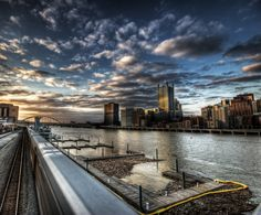 Stunning photo of Pittsburgh at sunset.  Taken by Noah Lovejoy (This photo was taken on February 13, 2009 using a Canon EOS 30D.)