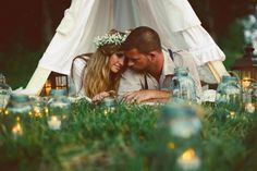 Meredith - it's your wedding blanket fort, only a summer/outdoors version :)
