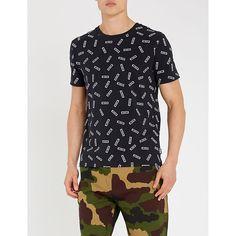 93af06bfaf MOSCHINO Camouflage-print stretch-cotton T-shirt. #moschino #cloth ...