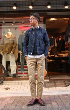 Navy Denim Jackets for Men Stylish Men, Men Casual, Dedicated Follower Of Fashion, Denim Jacket Men, Denim Jackets, Men's Wardrobe, Look Chic, Apparel Design, Streetwear Fashion